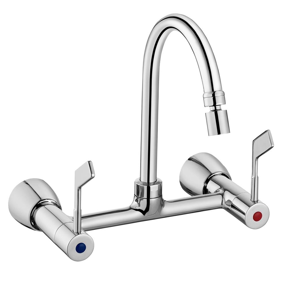 Docol: Vitta: Wall-Mount Sink Mixer 2 Handles #00539406 1