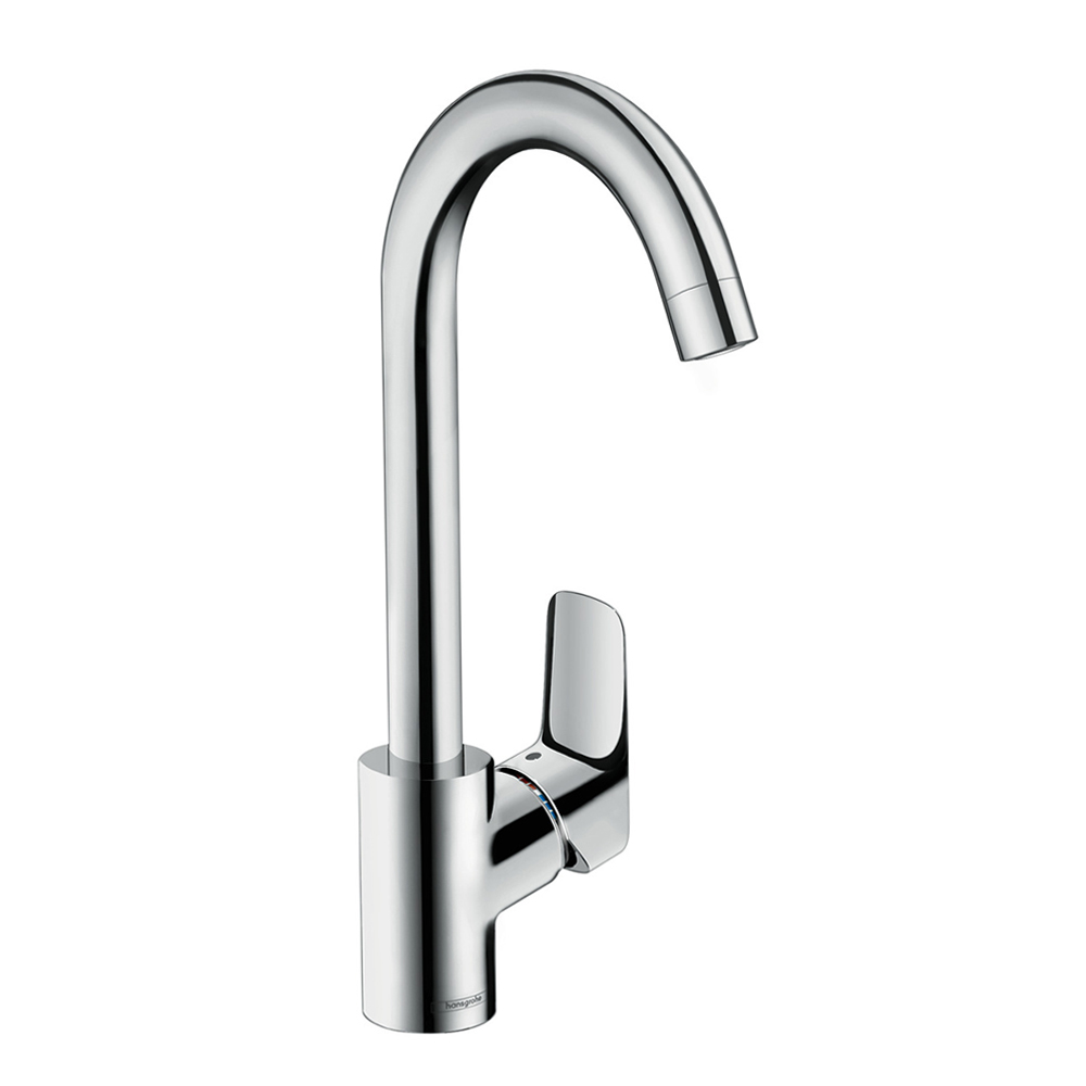 Hansgrohe Logis 260: Sink Mixer, Single Lever; Swivel Spout C.P