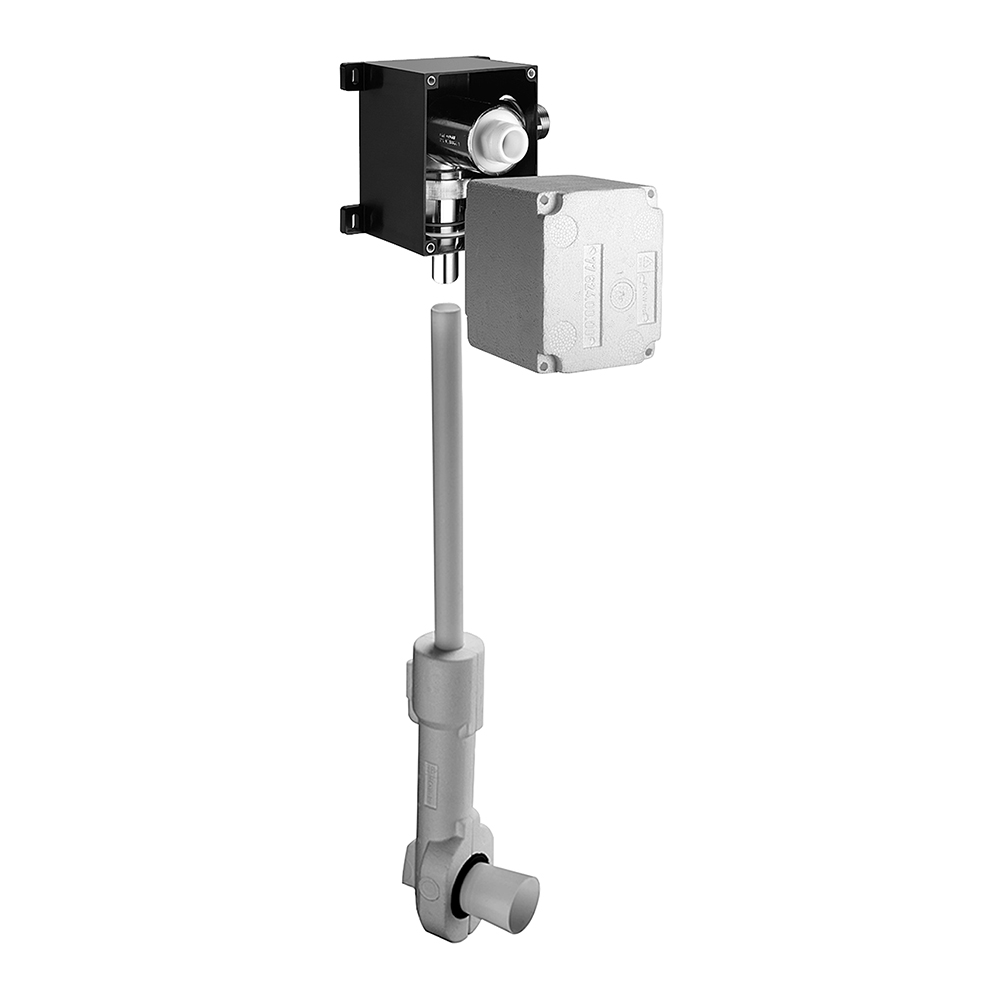 Schell: COMPACT II ND Concealed Low Pressure WC Flush Valve With Isolating Valve #011370099 1