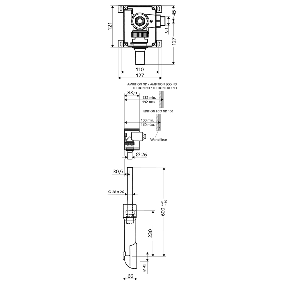 Schell: COMPACT II ND Concealed Low Pressure WC Flush Valve With Isolating Valve #011370099