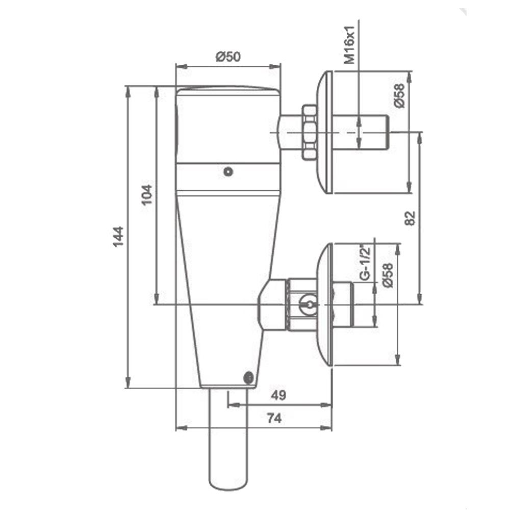 Stern Free E:  Electronic Urinal Flush Valve #113200