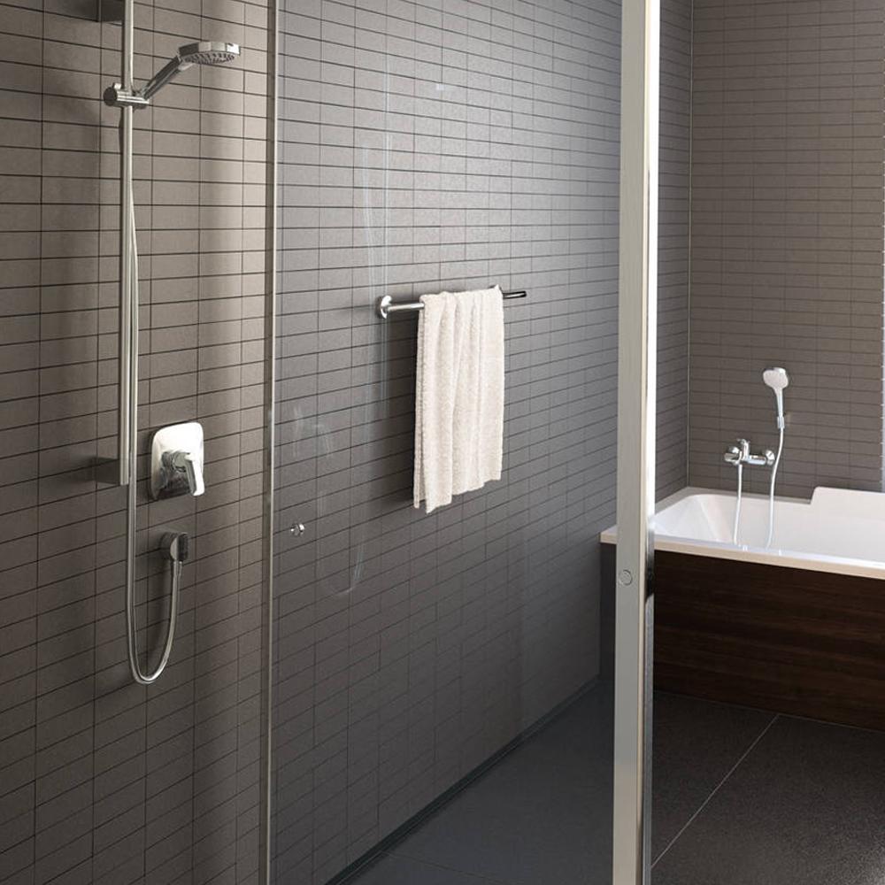 Hansgrohe Fixfit E: Wall Outlet, DN15, C.P.: #27454000