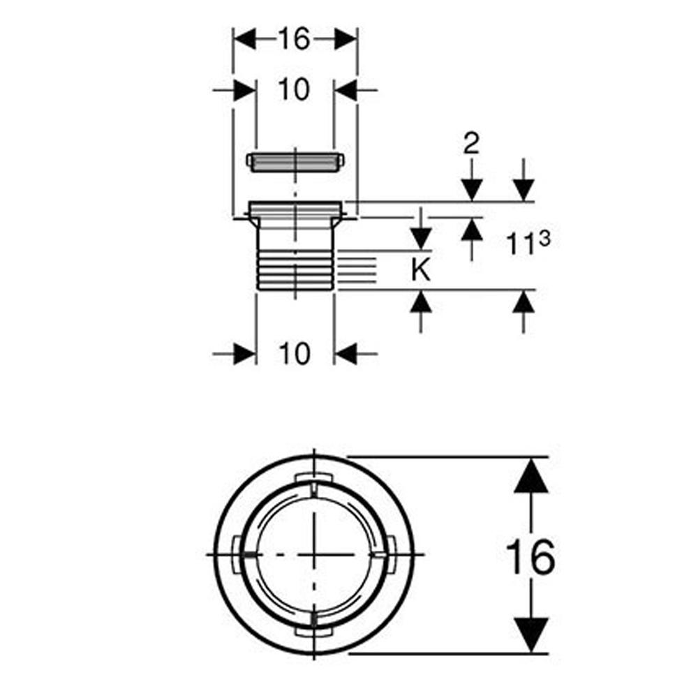 Geberit Expansion Piece For Floor Drain 10x10 #363.660.00.1