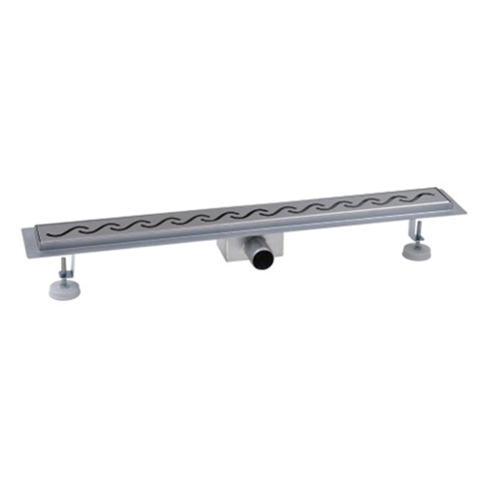 Master: S/Steel Shower Drain, 90cm; With Side Outlet + Flange + Waterproof Cloth + Adjstable Feet #MST-FST 1