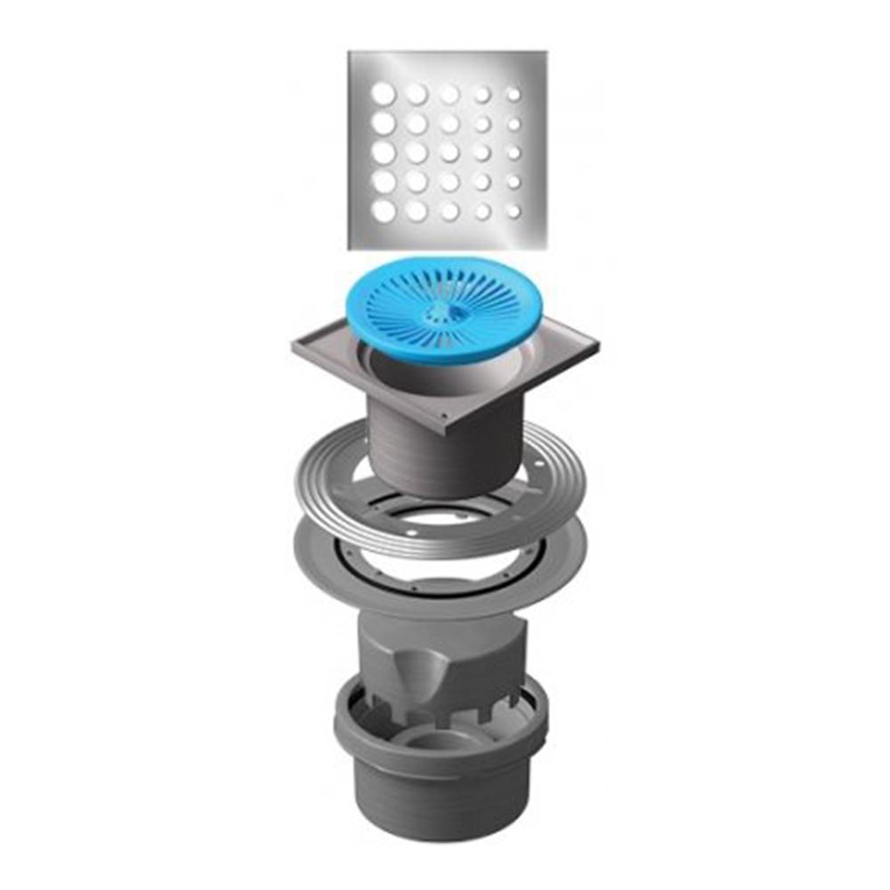 Confluo Standard Vertical Drops Shower Drain 15x15cm #13000020 1