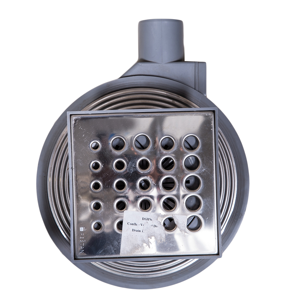 Confluo Vertical Drops 8 Shower Drain 15x15cm #13000354 1