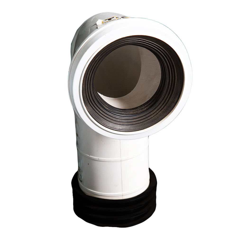 Kwikfit: WC Conversion Bend: 4″ PVC, White 1