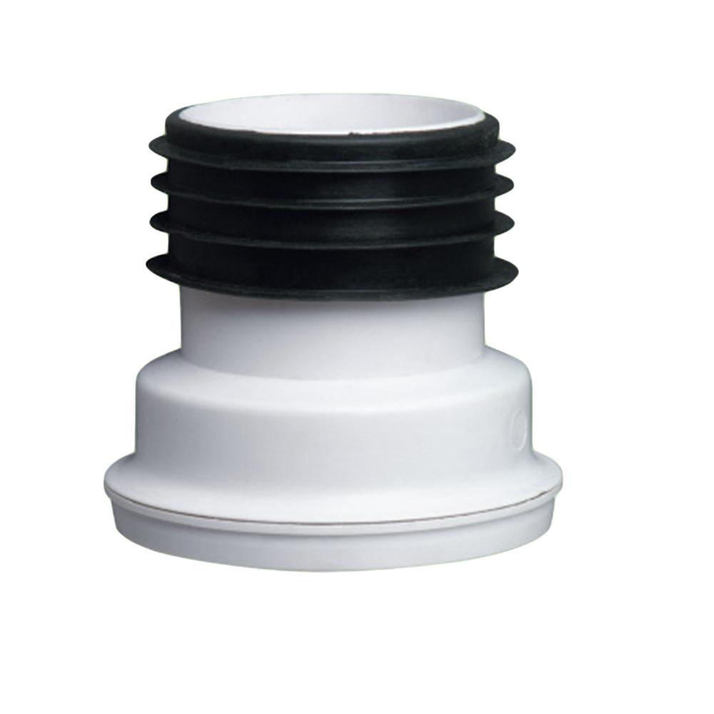 Zeda: WC Connector: 4in, PVC, Straight #ZDC124 1