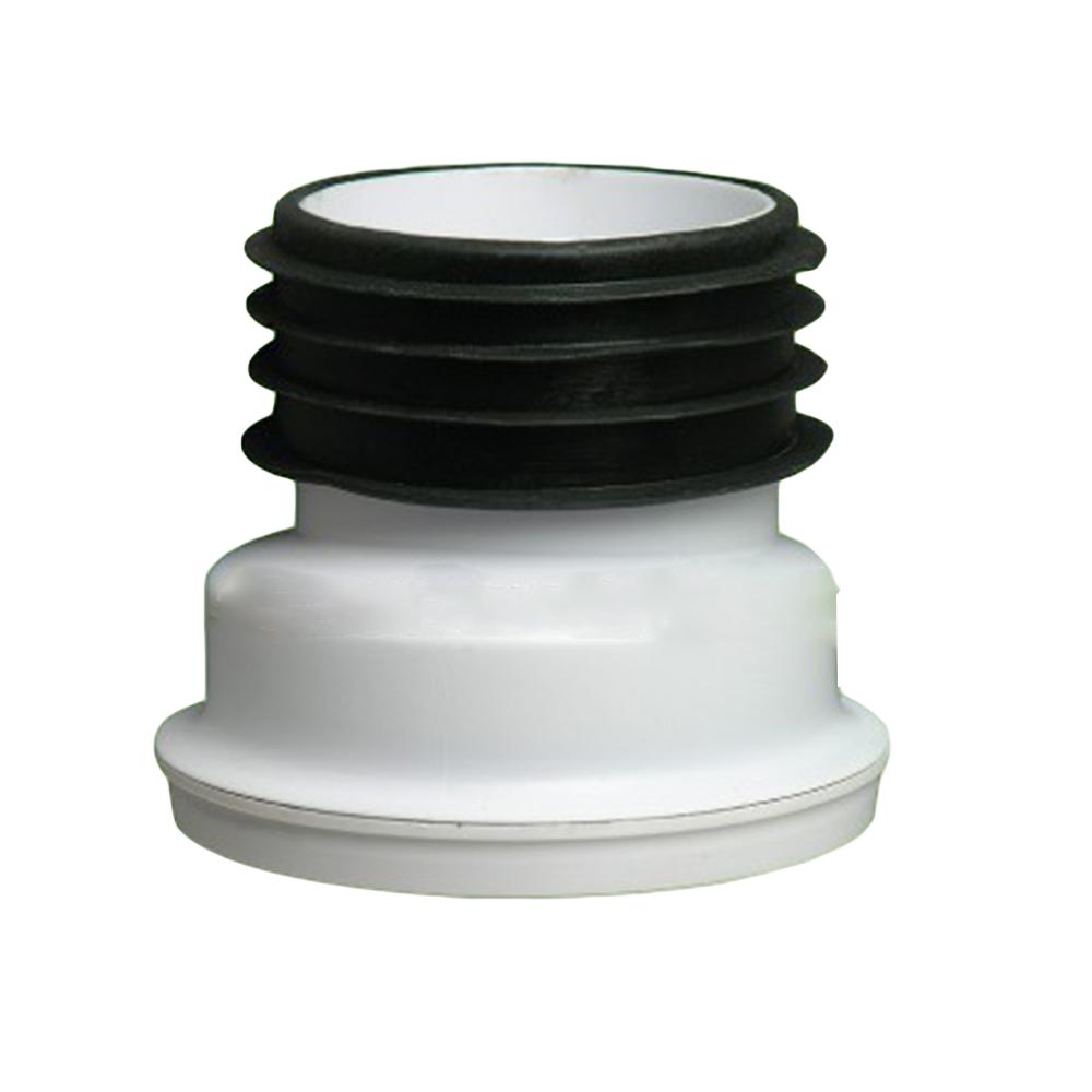 Zeda: WC Connector: 4in, PVC #ZDC123 1
