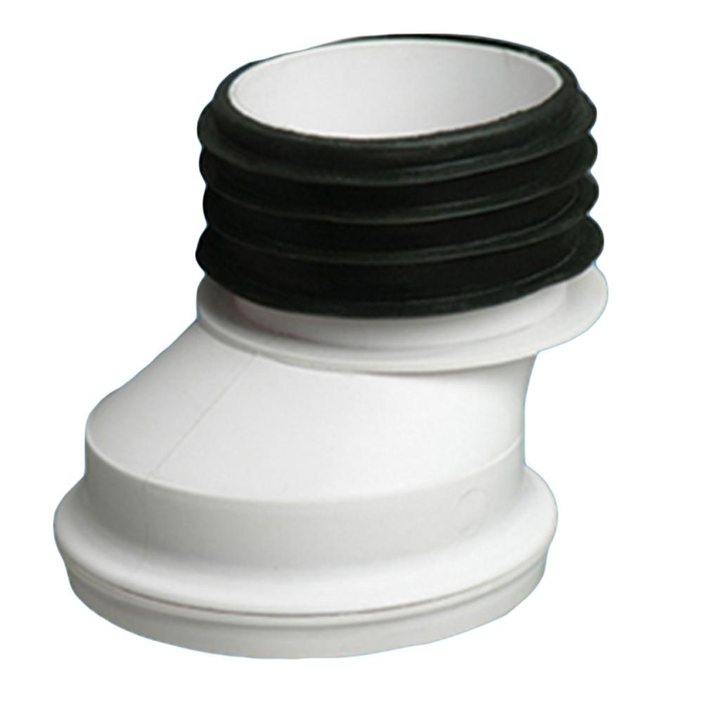 Zeda: WC Connector: 4in, PVC, Offset #ZDC122 1