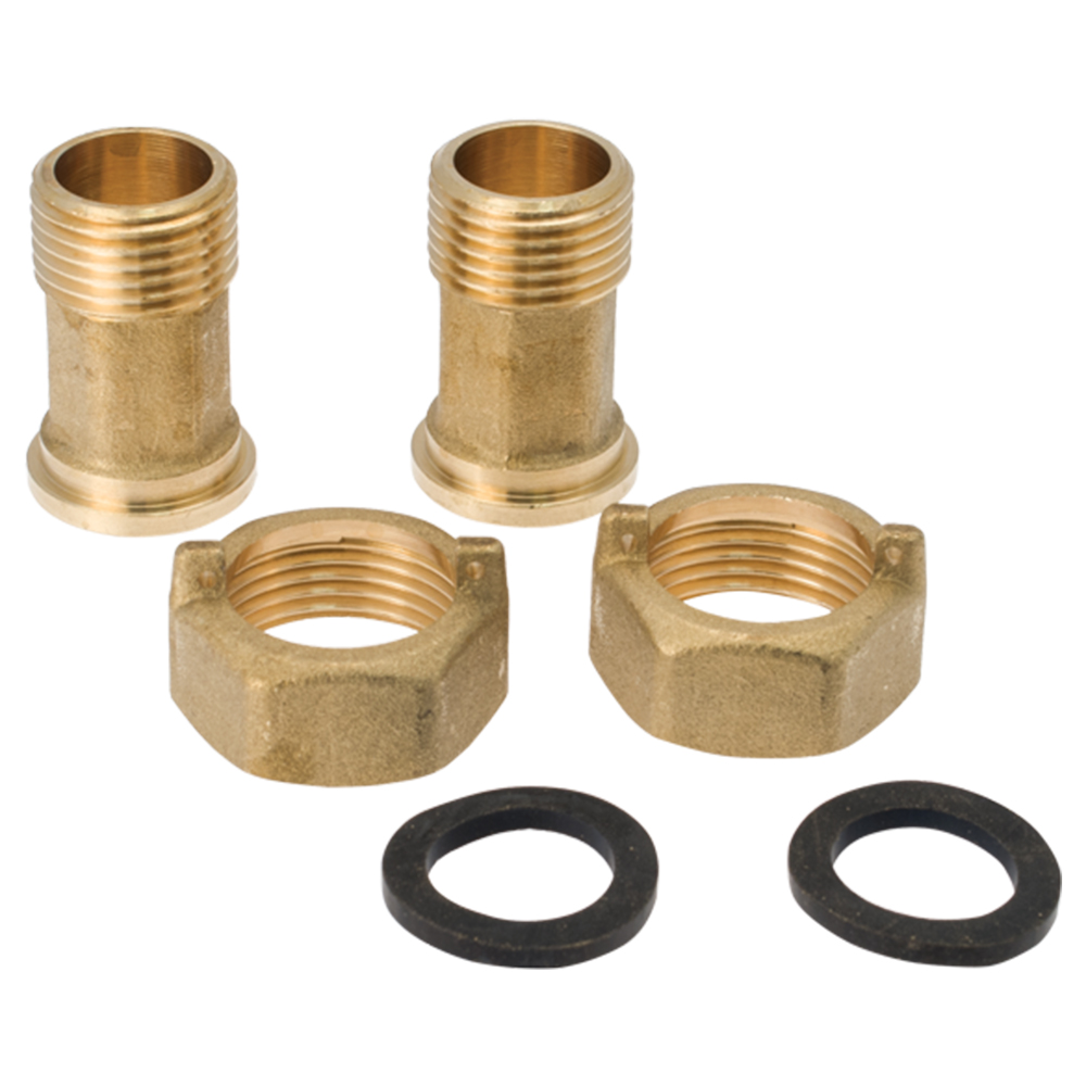 Water Meter:  Spare Part Kit Set For DN15 (2Nuts, 2Tailpieces, 2Gaskets)  #RAC1-K 1