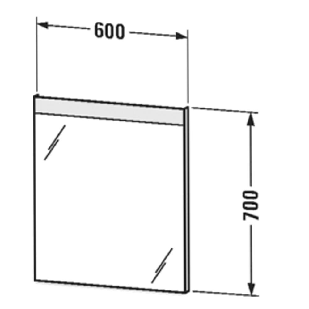 Duravit: Mirror with Light, 70x60x3.5cm #LM78450