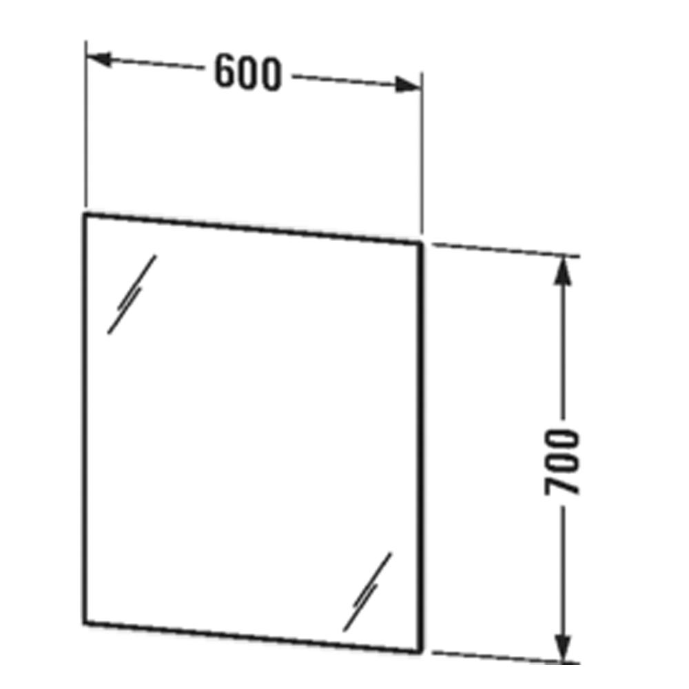 Duravit: MIrror With Light, 70x60x3.3cm #LM78150