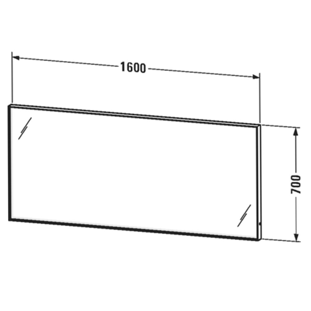 Duravit: L-Cube: Mirror With Lights: 70x160x6.7cm #LC73850