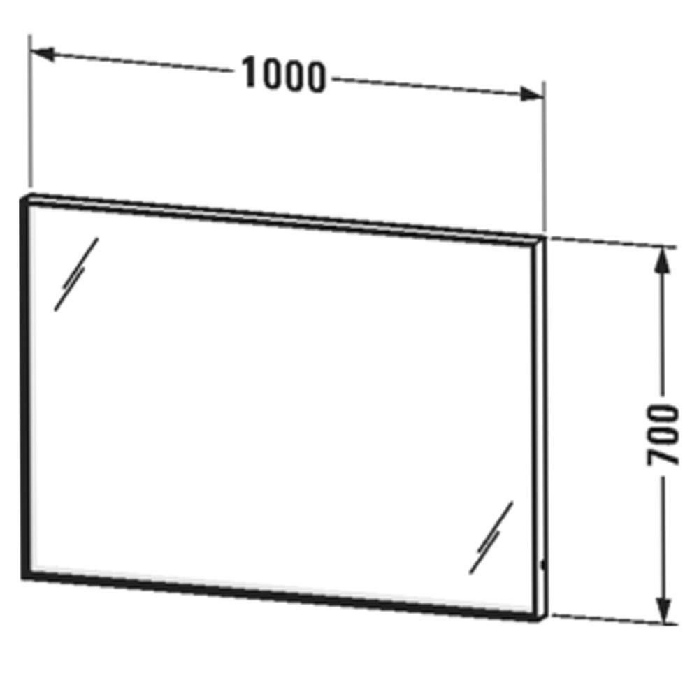 Duravit: L-Cube: Mirror With Lights: 70x100x6.7cm #LC73820