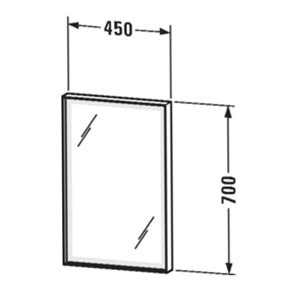 Duravit: L-Cube: Mirror With Lights: 45x70x6.7cm #LC73790