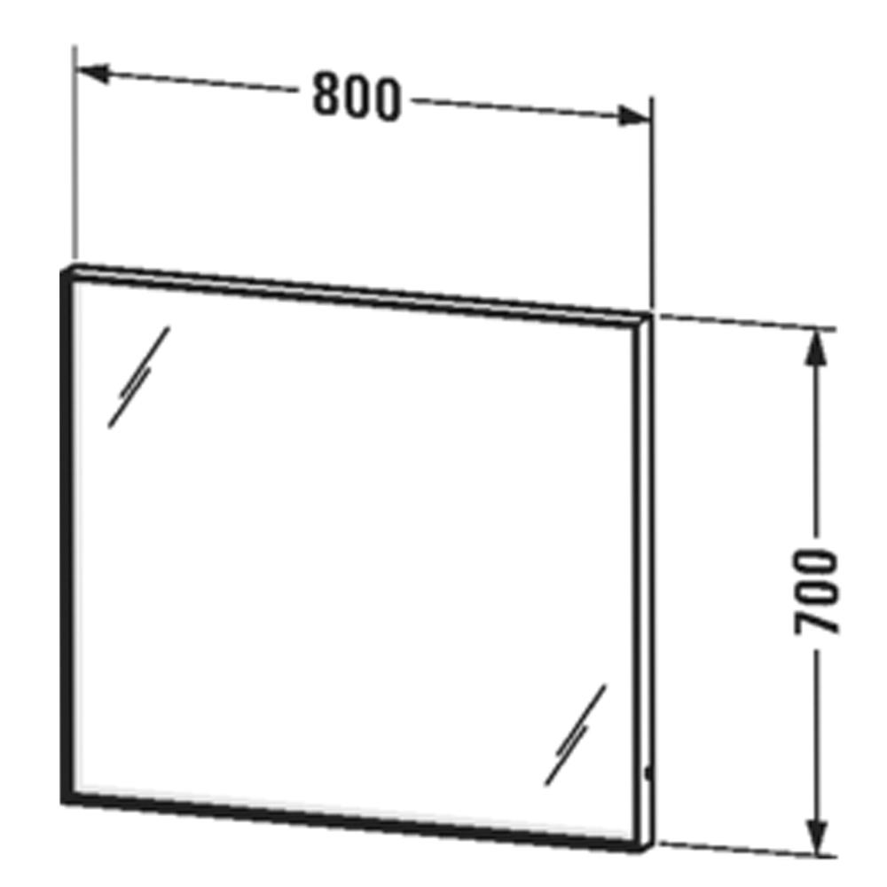 Duravit: L-Cube: Mirror With Lights: 70x100x6.7cm #LC73810