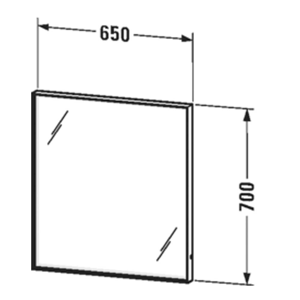 Duravit: L-Cube: Mirror With Lights: 65cm #LC738000000
