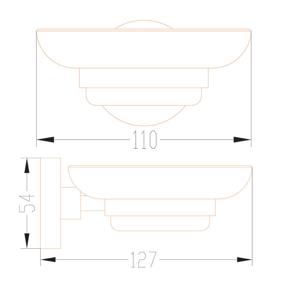 DALI : Soap Dish (Single) : C.P. : Ref. TMA51