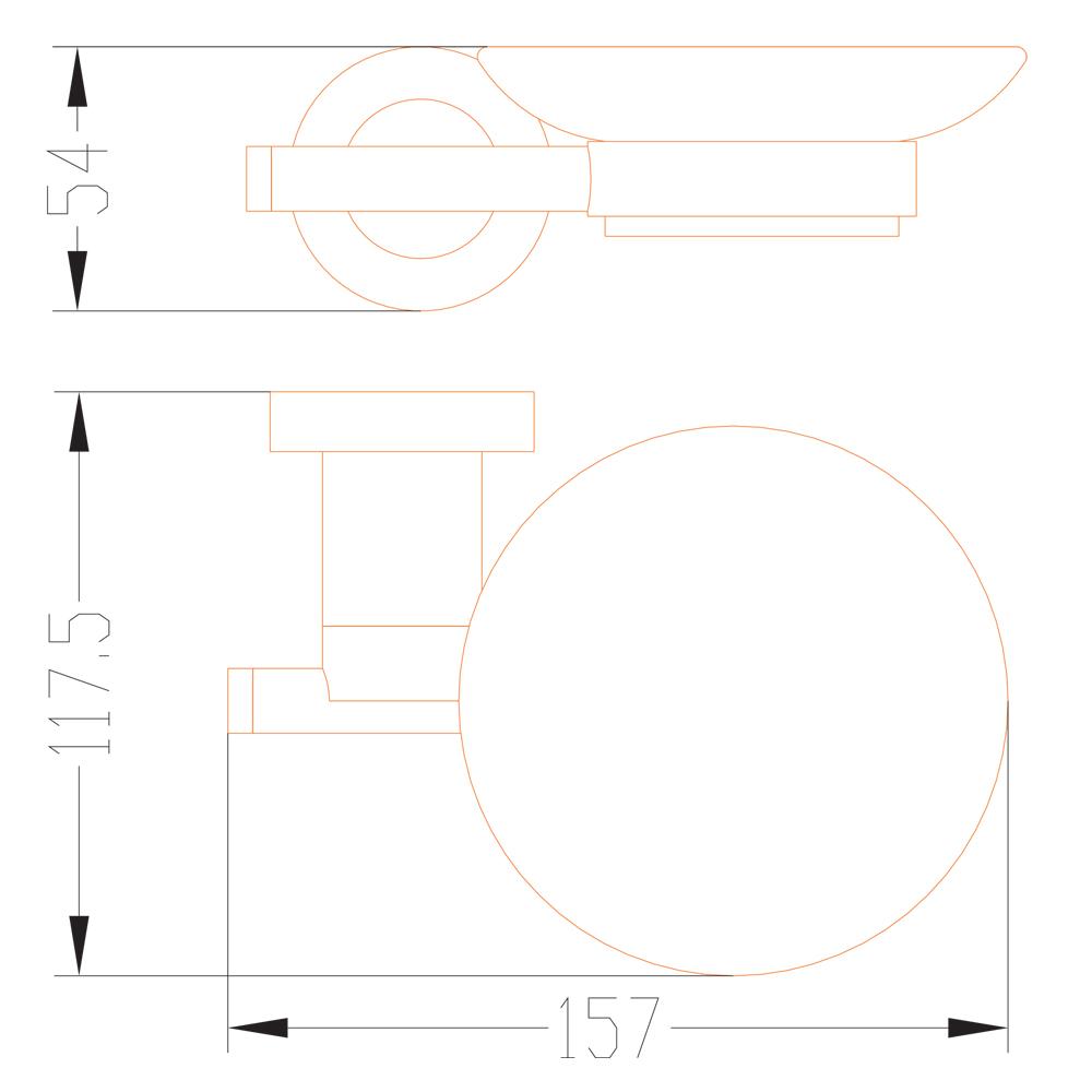 DALI: Soap Dish (Single) : C.P. : Ref. BMA51