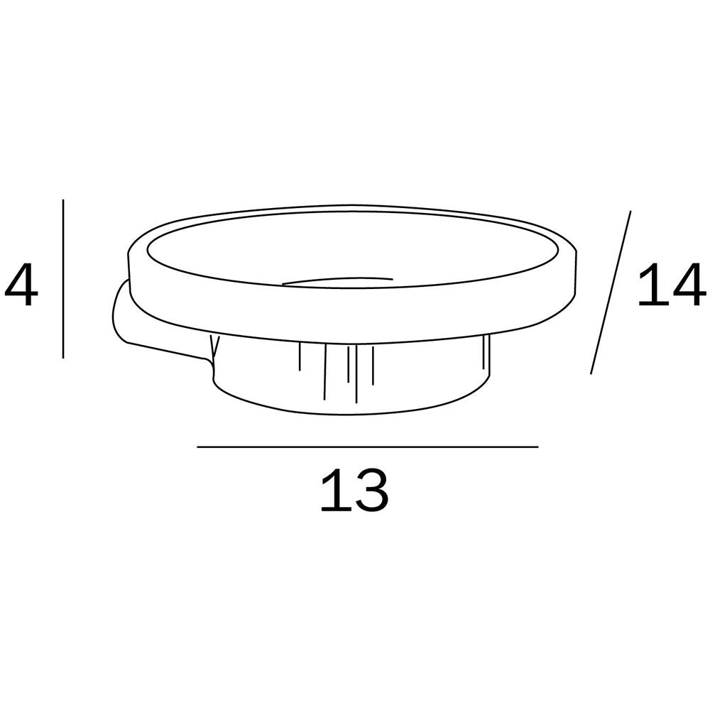 Inda: Mito Soap Dish (Single) : C.P. : Ref. A20110CR21