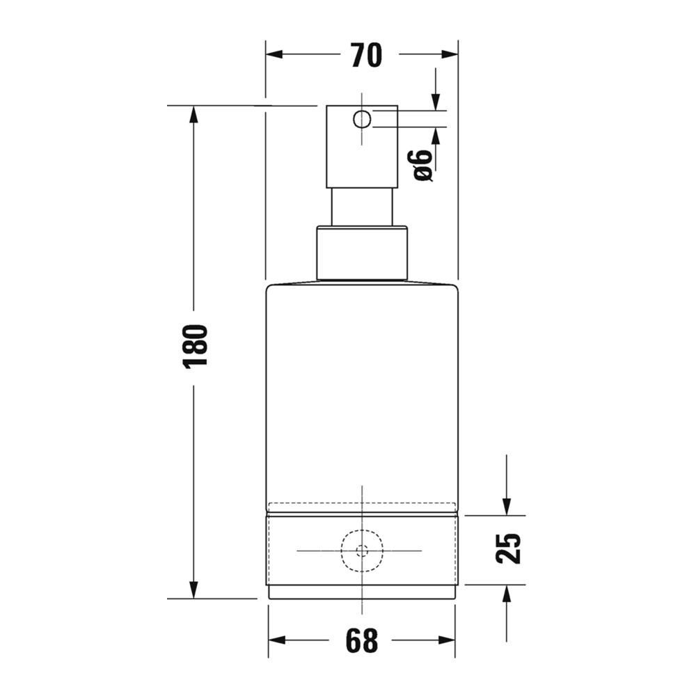 Duravit: Karree: Soap Dispenser: Wall Mounted, C.P. #0099541