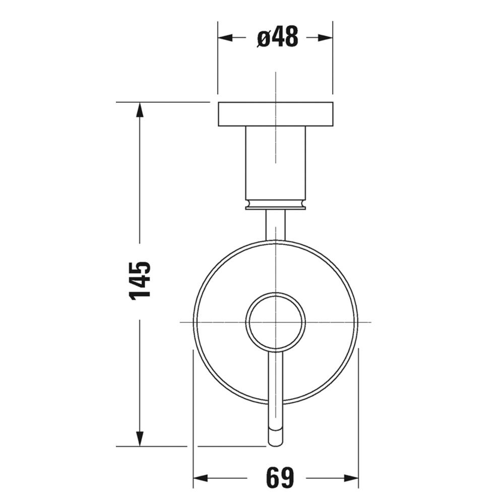 Duravit: D-Code: Soap Dispenser: Wall Mounted, C.P. #0099161