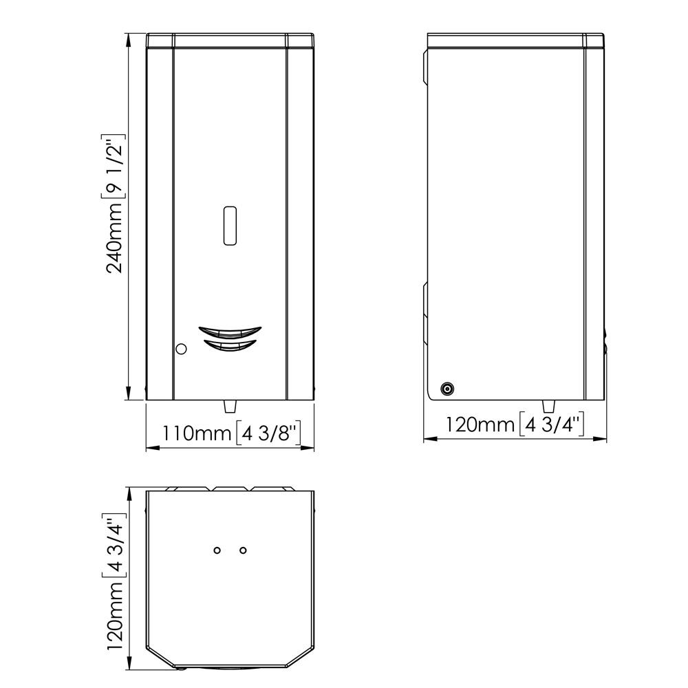 Mediclinics: Automatic Wall-Mounted Liquid Soap Dispenser: 1000ml, White #DJ0037A
