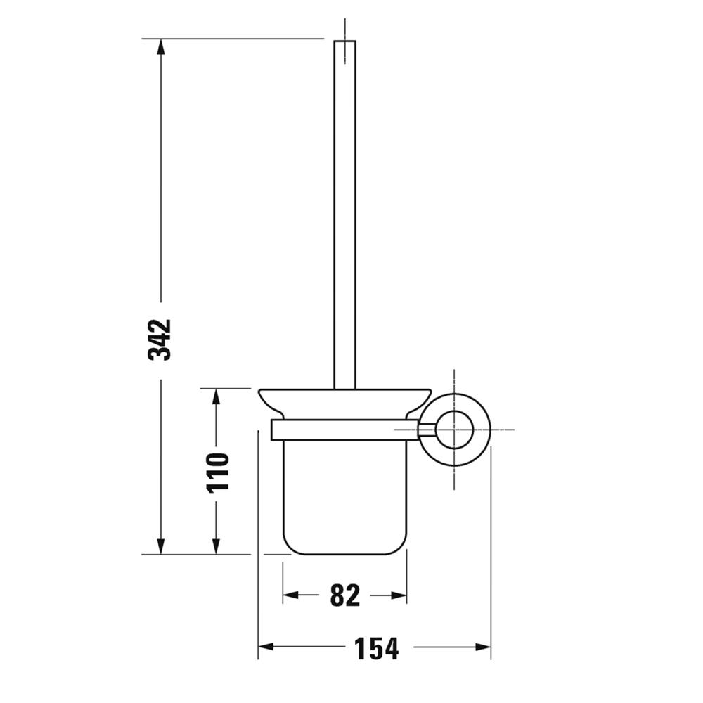 Duravit: D-Code: Toilet Brush + Holder, C.P #0099271000