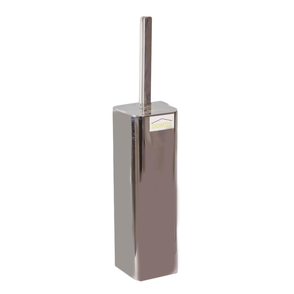 Domus HP: Steel Toilet Brush + Holder; 8x8x38cm #SB13043-001 1