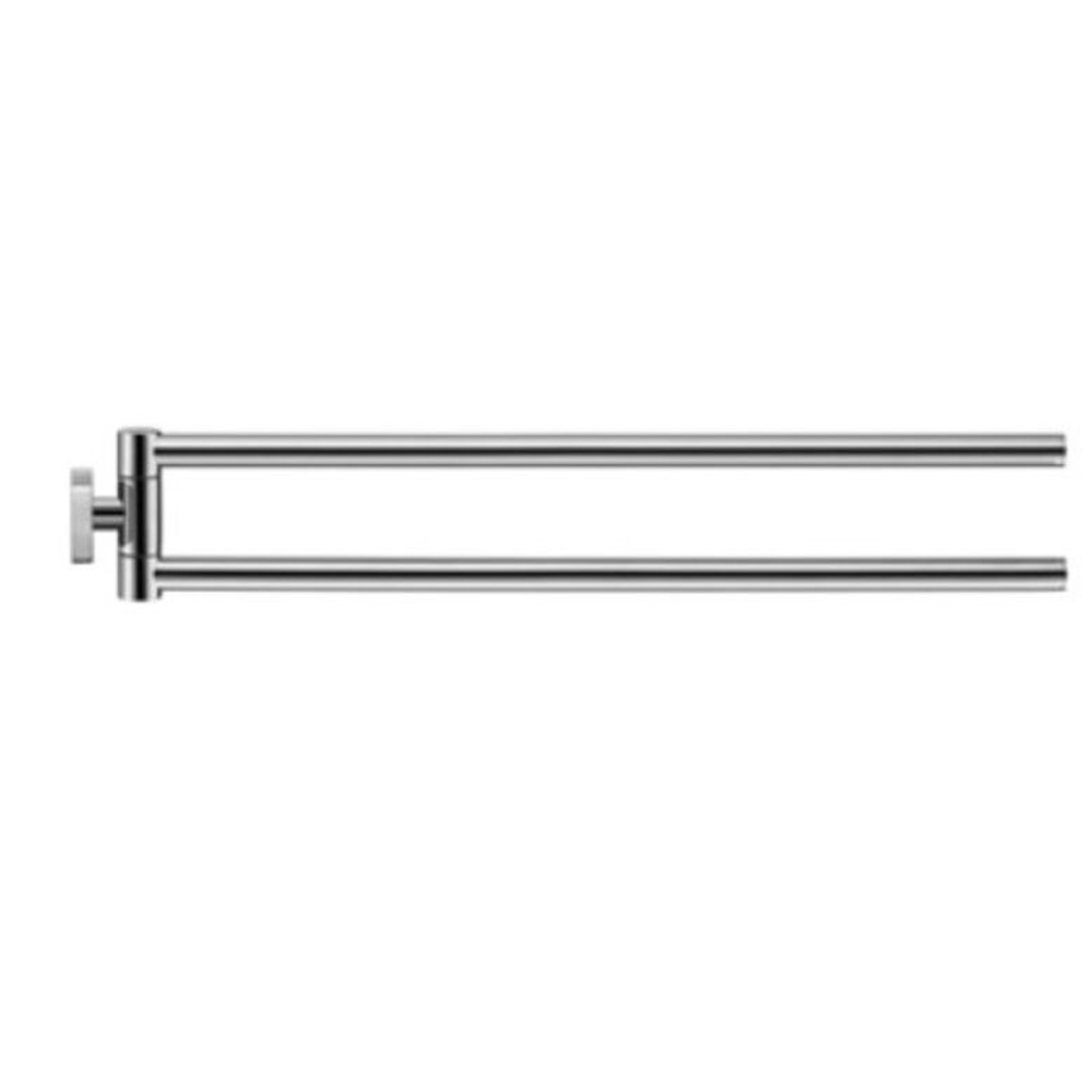 Duravit: Karree: Twin Towel Rail: 45cm, Chrome #0099581000 1