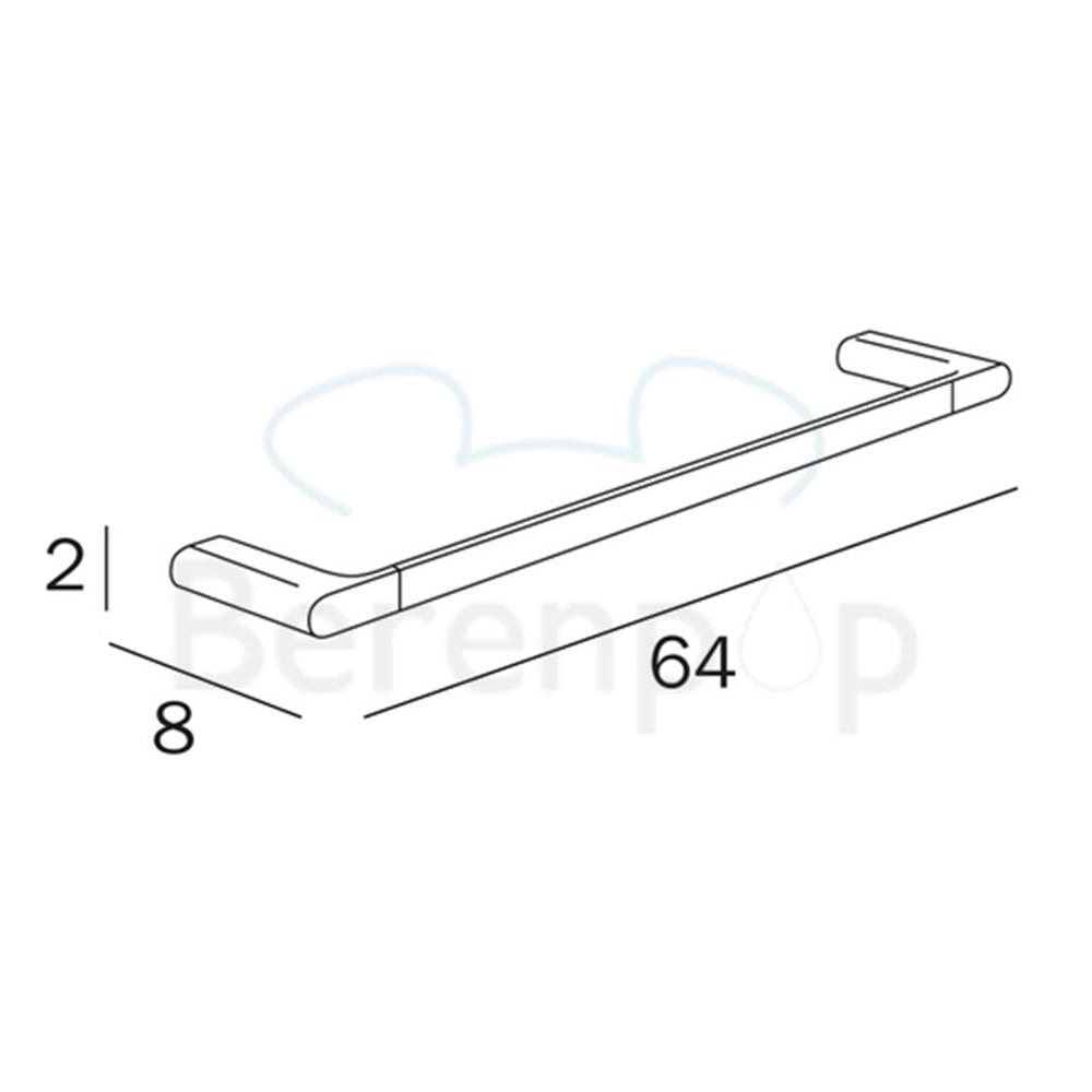 Inda: Mito Towel Bar: 60cm, C.P / White #A2018CCW