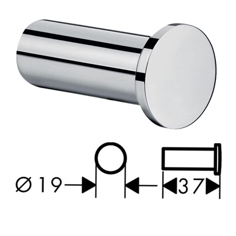 Hansgrohe : Logis Universal: Towel Hook (Single),C.P #41711000