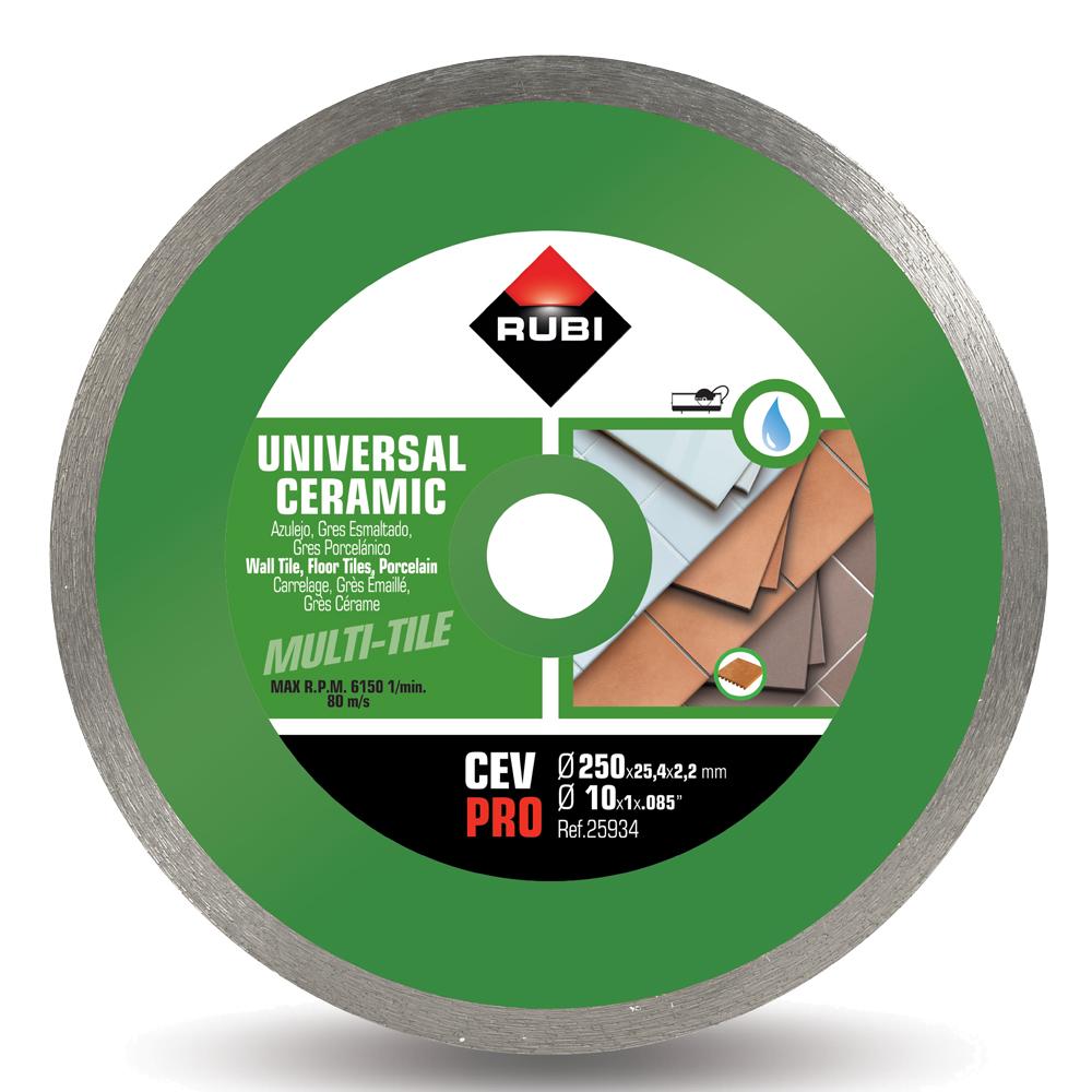 Rubi: CEV250: Basic Line Diamond Disc: 250mm, 10in #25934 1