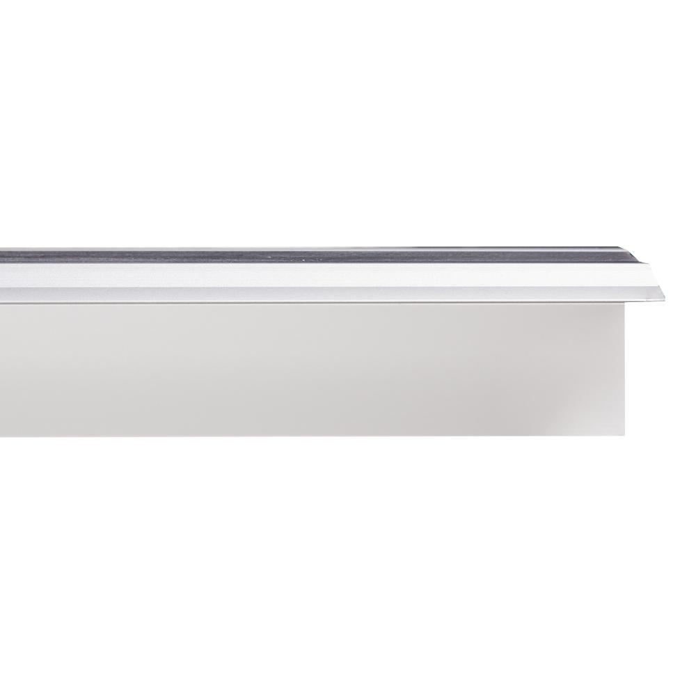 Sang Yi: Alu/Rubber Step Profile Trim:Silver Matt 2.4mx33mm(W)x55mm( H)#SY-DZ-0438