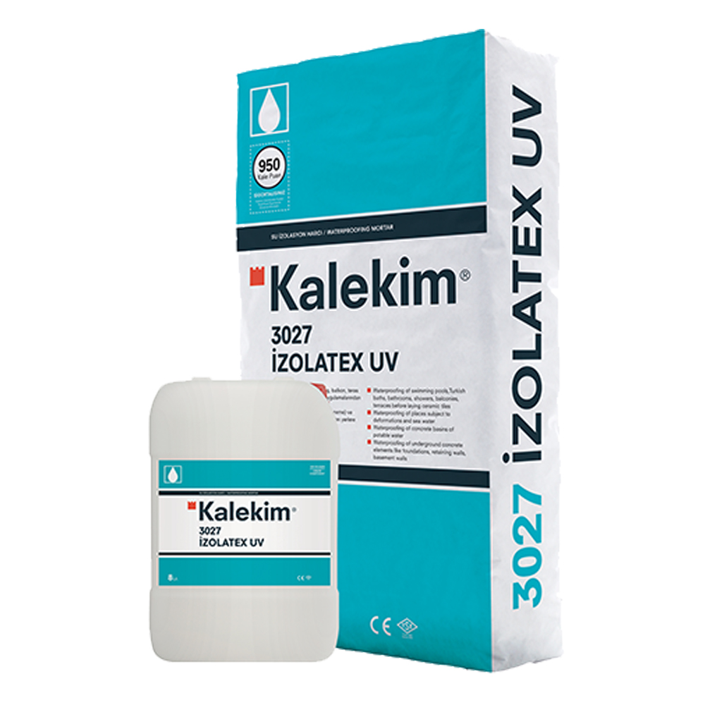 Kalekim: Izolatex UV 3027 Waterproofing Mortar 25kg +Solvent 8L 1