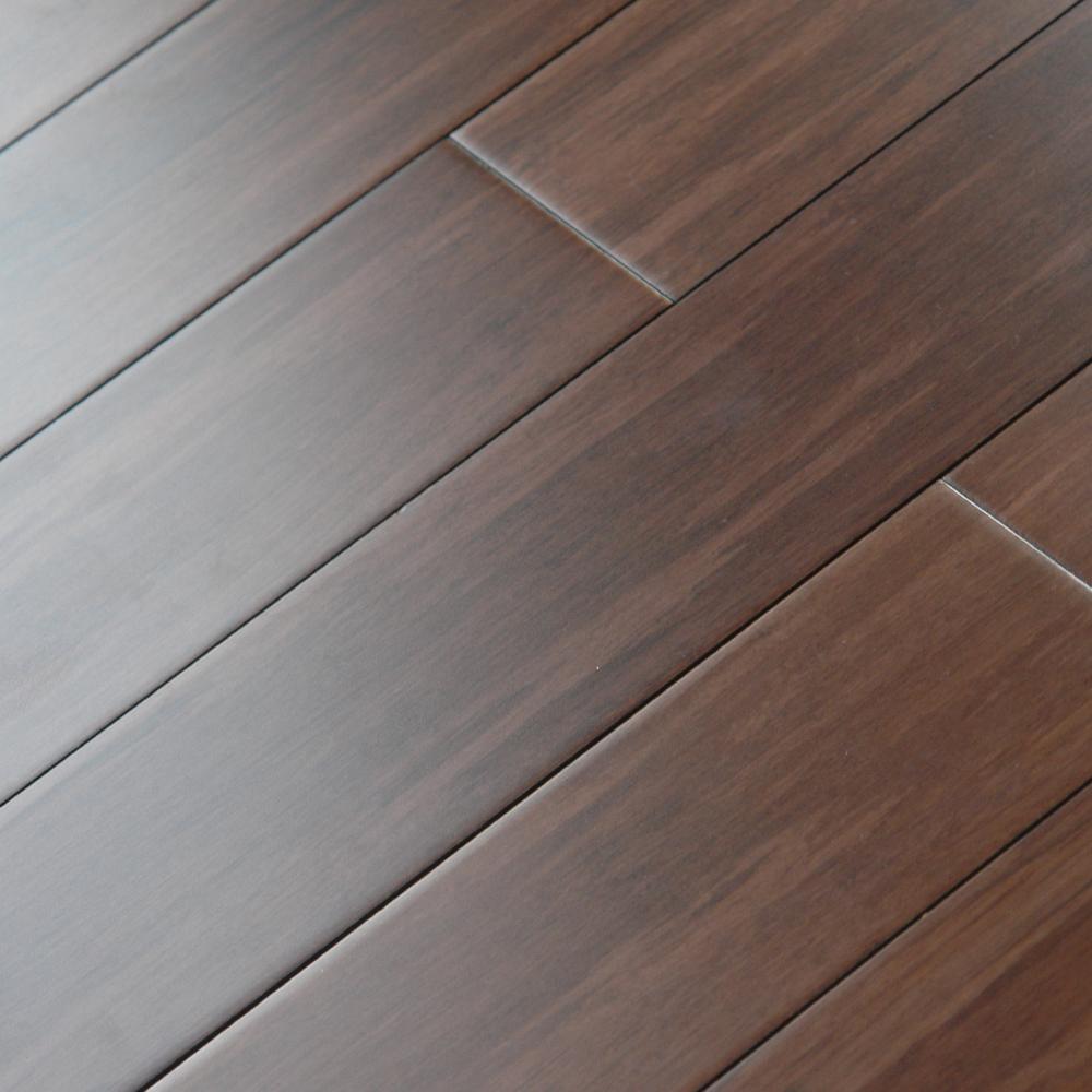 8005: Strand Woven Bamboo Flooring, Carbonized Black Walnut: 1530x132x12mm  1