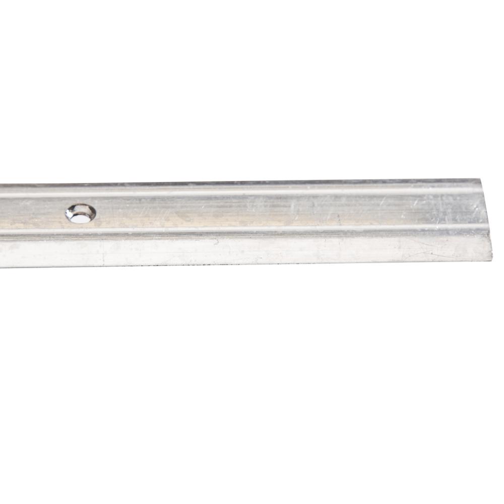 Silver 9ft : LinoEdge Carpet Flat-Bar #TX8049