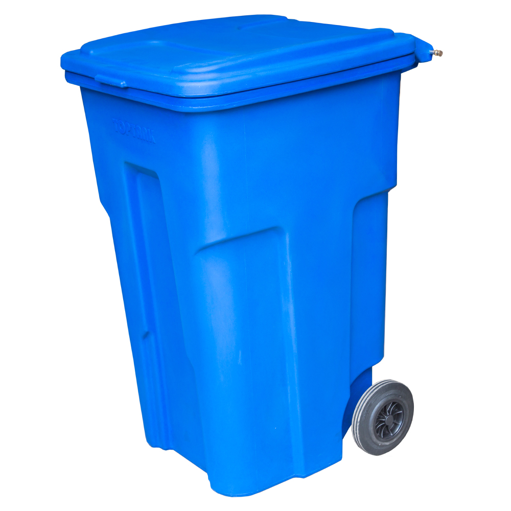 TopTank : Garbage Bin With Wheels, 360 Litres With Handle
