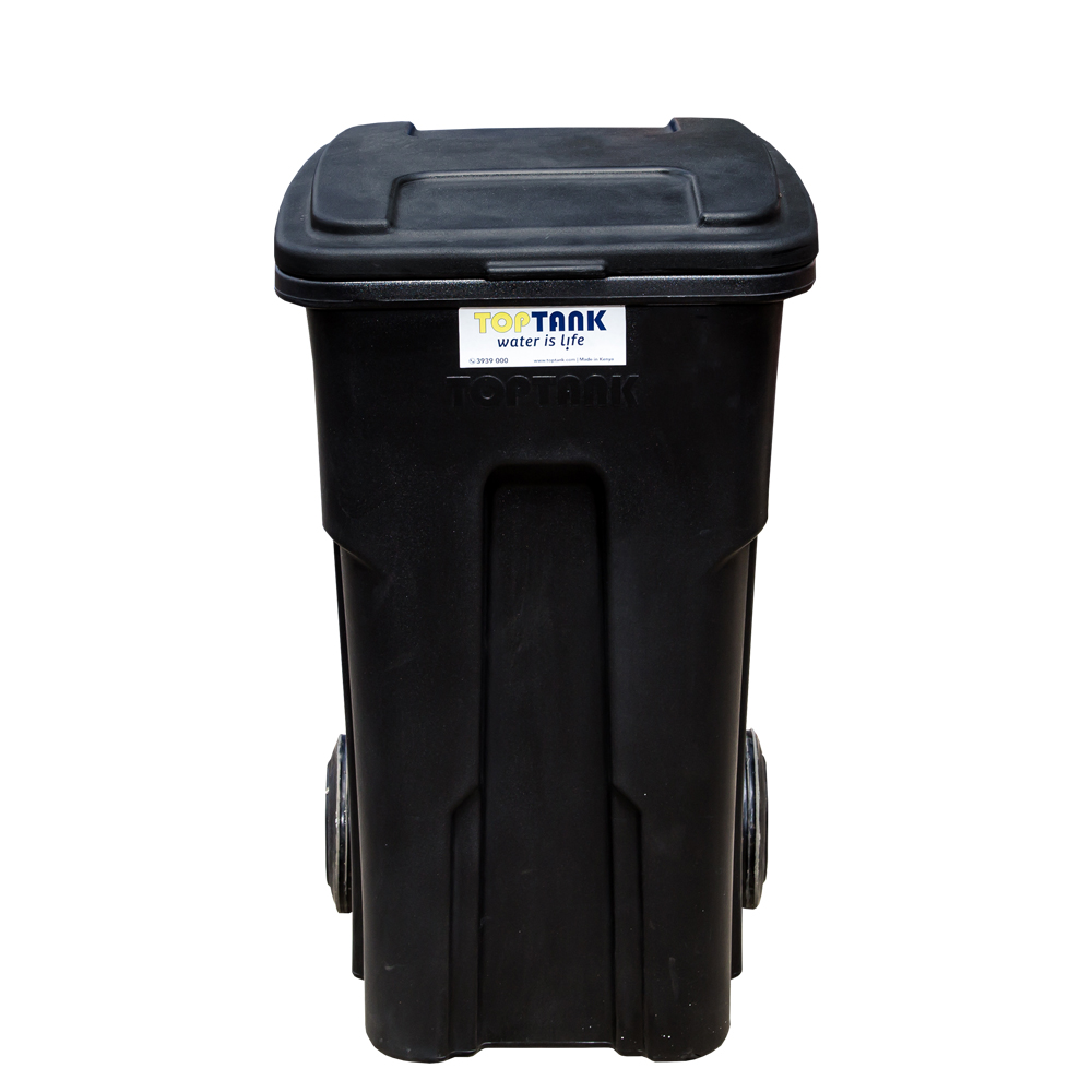 TopTank : Garbage Bin With Wheels, 120 Litres With Handle 1