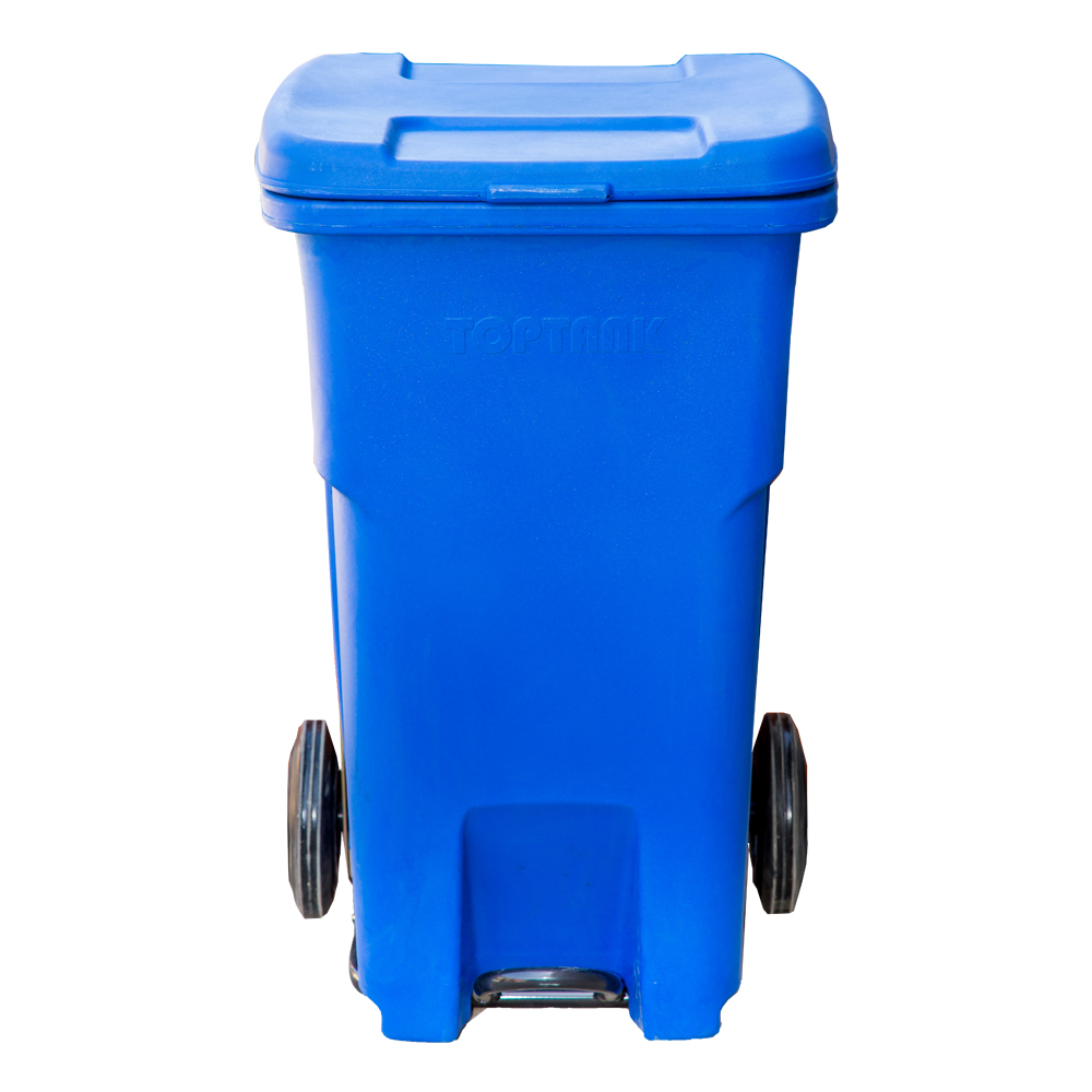 TopBin : Garbage Bin With Wheels, 90 Lts With Handle & Foot Pedal 1