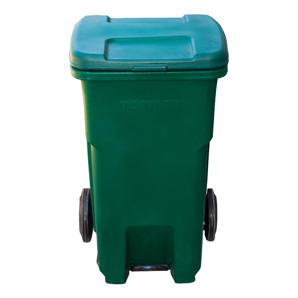 TopBin : Garbage Bin With Wheels, 90 Lts With Handle & Foot Pedal