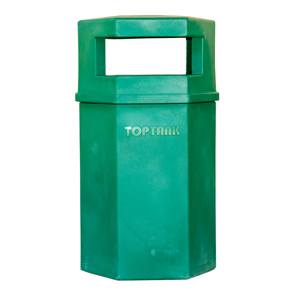 TopBin: Hexagonal Trash Bin, 90 Litres