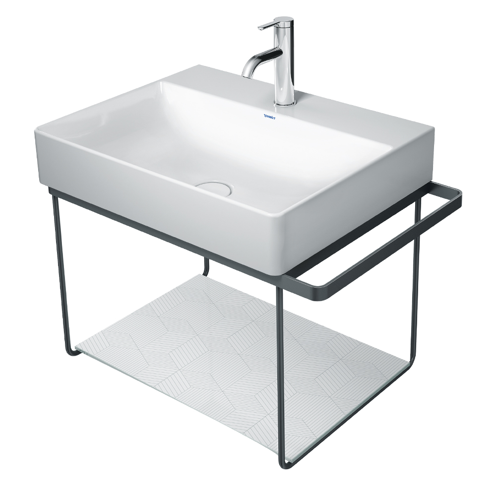 Duravit: Safety Glass For Metal Consoles For DuraSquare Wash Basin 073245, Cubic Line #0099648200 1