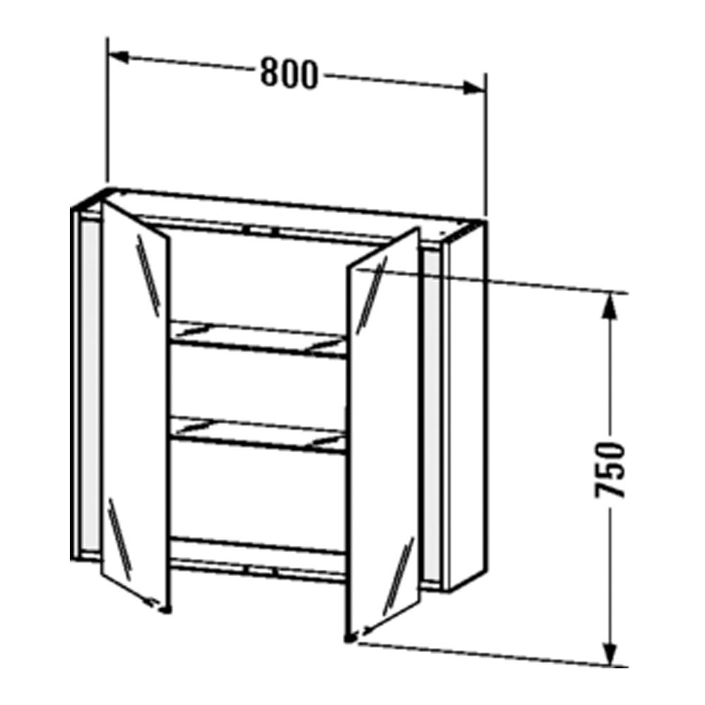 Duravit: Ketho: Mirror Cabinet 750x800x180mm #KT753104949