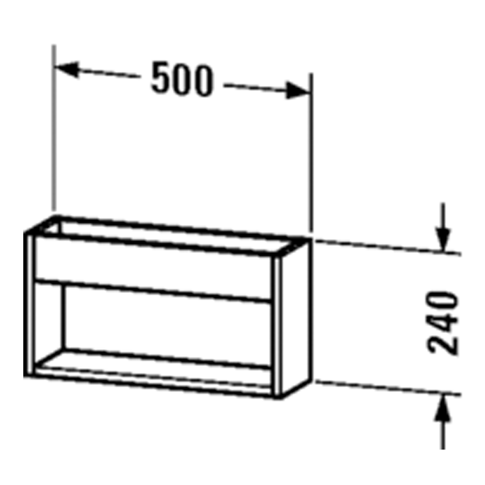 Duravit: Ketho: Wall Shelf: 240x500x135mm #KT253701818