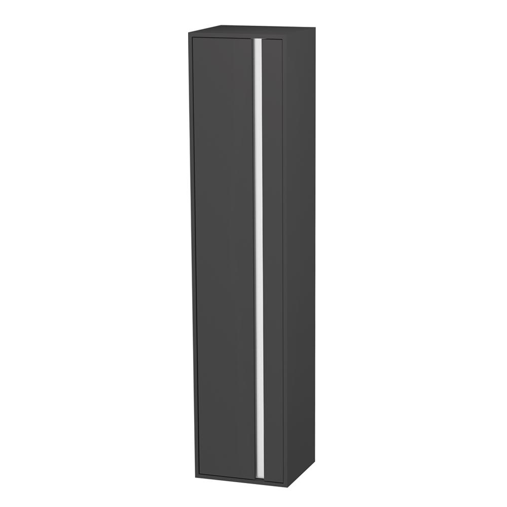 Duravit: Ketho: Tall Cabinet: Left Hinged; 180x40x36cm Graphite Matt #KT1255L4949 1