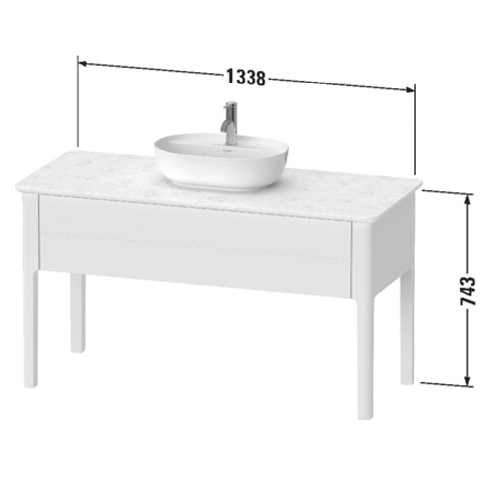 Duravit: Luv: Vanity Unit For Console ; 133.8cm, Taupe Satin Matt #LU956106060