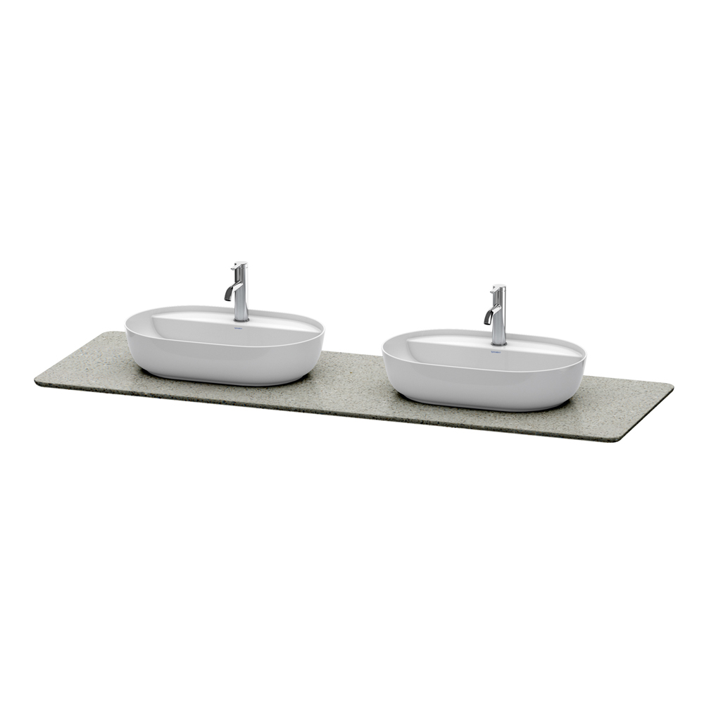 Duravit: Luv: Variable Console For #37960 2-Cut Outs And 1 Tap Hole, Grey #LU9467B3333 1