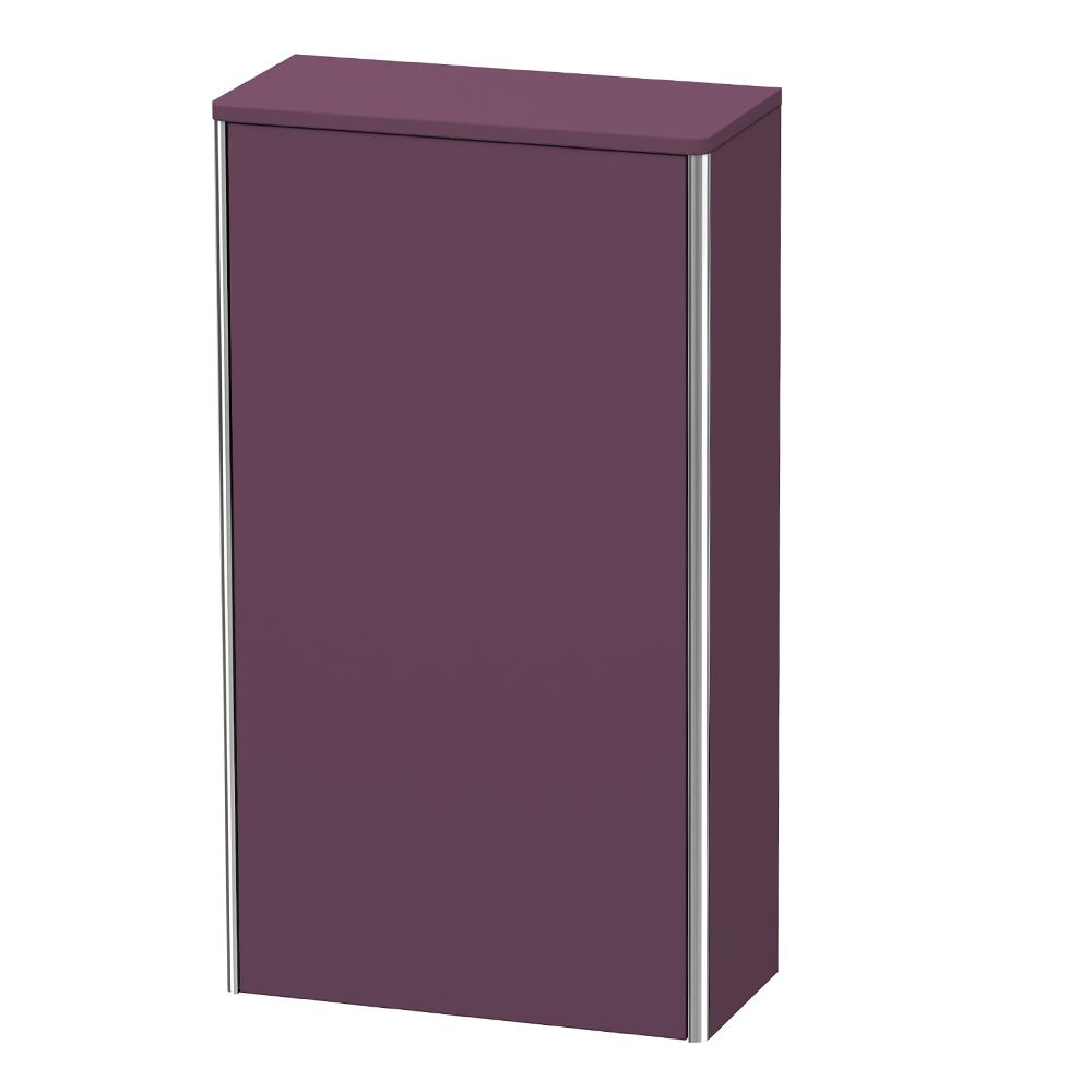 Duravit: XSquare: Semi-Tall Cabinet, Right Hinged: 1 Door; 50cm Aubergine Satin Matt #XS1303R9494 1